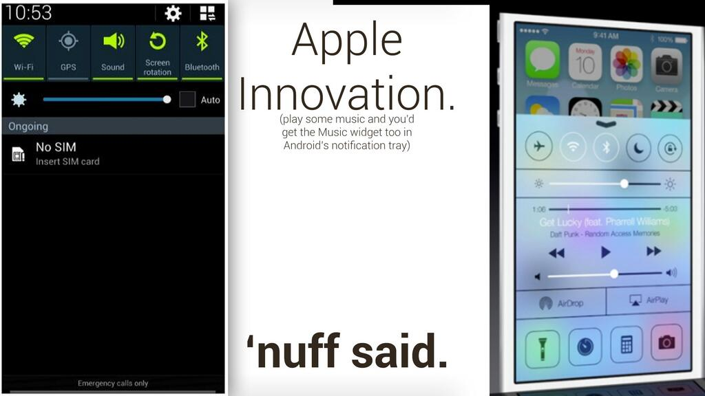 iOS 7, Apple innovatrice o copiona?